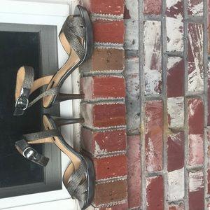 Silver Sandal Pumps